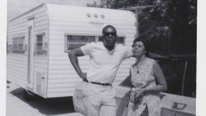 Benjamin and Frances Graham pose in front of their RV in 1970.
