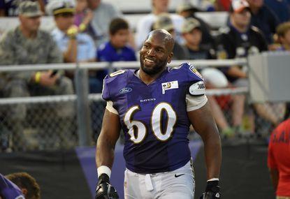 Ravens left tackle Eugene Monroe.