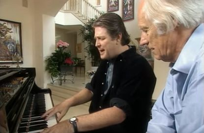 """Brian Wilson and George Martin discuss the making of the Beach Boys' """"God Only Knows."""" Martin, who died on Wednesday at age 90, visited Wilson in Los Angeles for the BBC documentary """"The Rhythm of Life."""""""