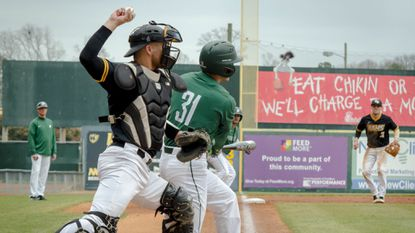 Laurel resident Simon settles in behind the plate for VCU baseball squad