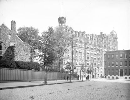 The Rennert Hotel in 1941. The famed hotel at the corner of Saratoga and Liberty streets first received guests at its opening in 1885.