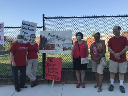 Residents Against the Tunnels staged a protest Tuesday against the proposed Baltimore and Potomac Tunnel Project, which includes plans to build a diesel exhaust vent next to Dorothy I. Height Elementary School.