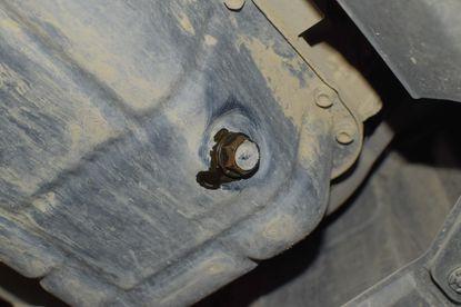 An oil drain plug.