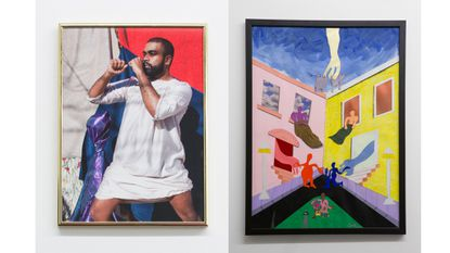 'No Need' (left) and 'Hold Me Up' by Devin N. Morris at Terrault Contemporary