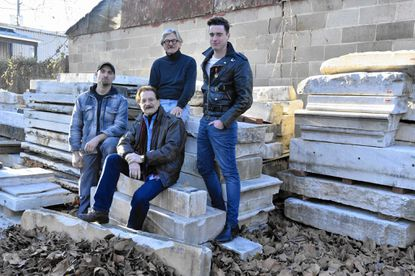 "(From left), Sebastian Martorana of Station North, Steve Yeager of Canton, Michal Makarovich of Hampden and Alex Fox of Hampden have a Kickstarter campaign to raise money for a monument to Divine. The shrine to the late actor will be placed near the site of an infamous scene in John Waters' film ""Pink Flamingos."""