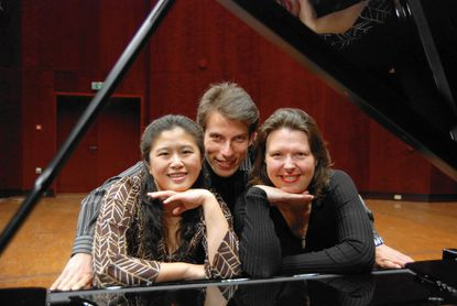 Mendelssohn Piano Trio - Peter Sirotin from Ukraine, violin; Fiona Thompson from England, cello; and Ya-Ting Chang from Taiwan, piano - will perform at Harford Community College Sunday.