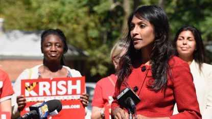 Krish Vignarajah, a Democratic candidate for Maryland governor, called on her rivals to not place political ads on stations owned by Hunt Valley-based Sinclair Broadcasting.