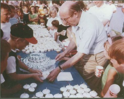 Columbia's first birthday took place in 1968. Photo courtesy of Columbia Archives
