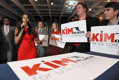 Kim Klacik kicked off her first run for Maryland's 7th district congressional seat during a campaign event in Hunt Valley one year ago. File. Photo by: Kenneth K. Lam