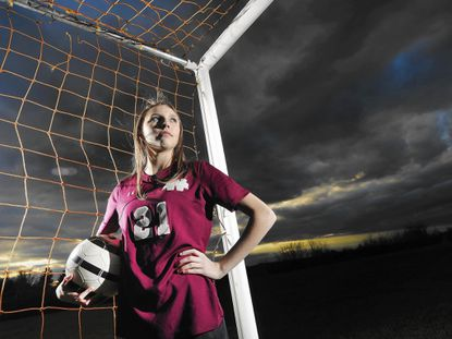Winters Mill junior Anna Diffendal is the 2016 Carroll County Times Girls Soccer Player of the Year.