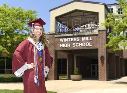 Winters Mill senior Addison Lomax is pictured Tuesday, May 26, 2020.