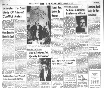 Nov. 10, 1969 Evening Sun: Nun Students Sad, Quietly Concerned