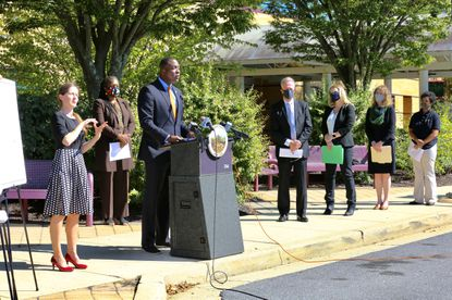 Howard County Executive Calvin Ball on Monday announced another allocation of federal CARES Act funding, this time $1.3 million for a countywide initiative to support children and families with virtual learning.