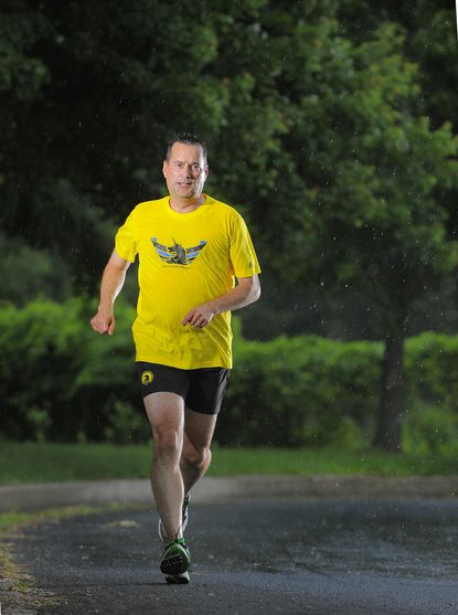 Steve Neibergall in the final days of training for this 100th marathon on his 7th continent.