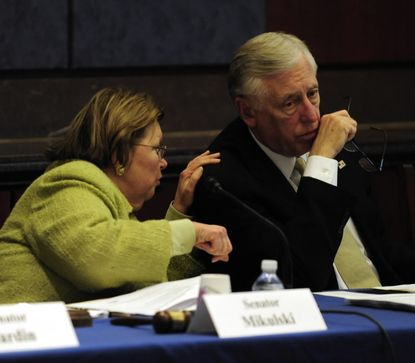 Sen. Barbara A. Mikulski (left) and Rep. Steny Hoyer