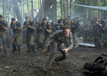 "Jason O'Mara runs for his life in the premiere of Fox's ""Terra Nova."""