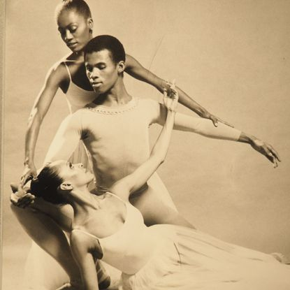 """A photo from the Reginald F. Lewis Museum's exhibition, """"Dance Theatre of Harlem: Forty Years of Firsts,"""" on view through Aug. 30."""
