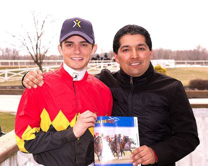 Jockey Sheldon Russell and trainer Claudio Gonzalez are Laurel Park's winter-meet champions.