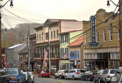 Ellicott City's historic Main Street.