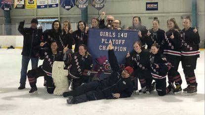 Harford all-girls ice hockey team wins league championship