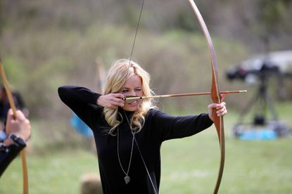 """Emily draws her bow and prepares to defend her honor on """"The Bachelorette."""""""