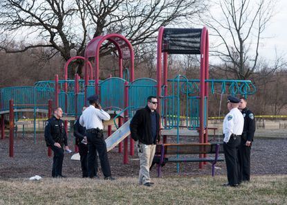 Neighbors said a child and his mother were shot in a Cherry Hill playground Thursday afternoon while dozens of other kids played nearby. Police said the incident took place just before 6 p.m. near Round Road and Seagull Avenue. The boy, 11, suffered at least one gunshot wound. The woman, 34, was shot in the upper body. Both were taken to an area hospital for treatment.