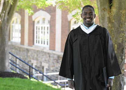 Dinambi Butler graduated from McDaniel College on Saturday.