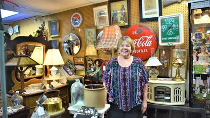 An Eye for Art: Artwork at antique mall includes stained glass, sports memorabilia, Maserati steering wheel