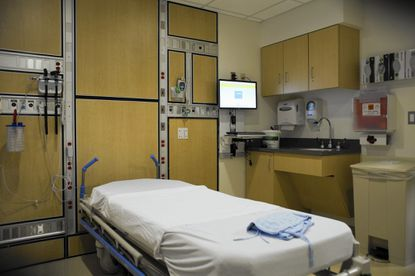 An interior view of the new Emergency room inside St. Agnes Hospital.