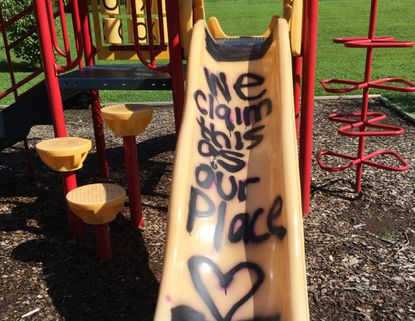 Colonial Acres residents offer reward for finding playground vandals