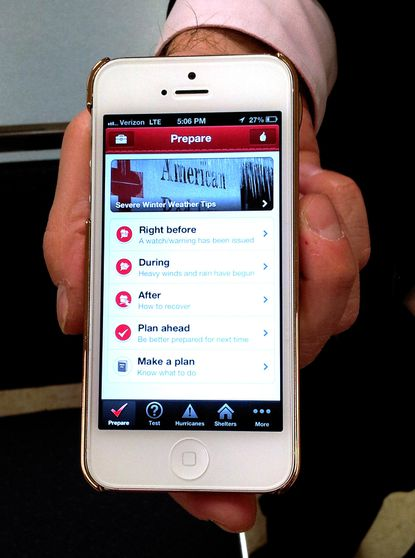 The American Red Cross designed and launched four mobile apps to make real-time weather alerts, shelter information, first aid instructions and more readily available for customers.