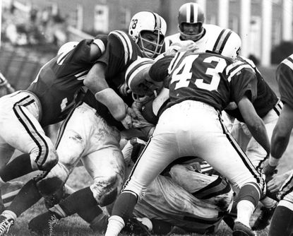 Roger Shoals (No. 78) is pictured during a game against Clemson in 1962.