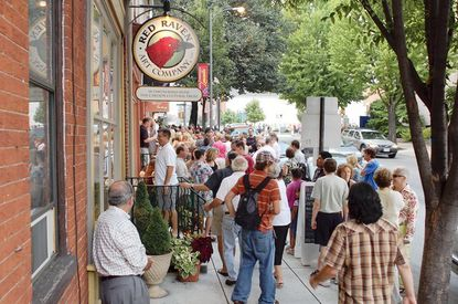 Downtown Lancaster draws crowds for its monthly First Fridays, highlighting the city's rich arts culture.