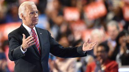 Then-Vice President Joe Biden speaks at the 2016 Democratic National Convention in Philadelphia.