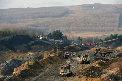 Under Gov. Larry Hogan, Maryland has opposed some federal efforts to limit the environmental impact of coal mining like the surface mining seen here at Cabin Run near Frostburg. File. (Kim Hairston/Baltimore Sun).
