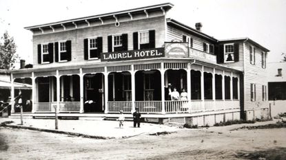 Th Laurel Hotel was built in 1912 on the corner of Route 1 and Main Street.