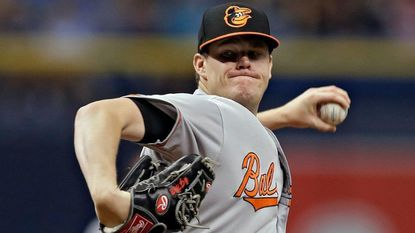 Baltimore Orioles pitcher Josh Rogers delivers to the Tampa Bay Rays during the first inning of a baseball game Sunday, Sept. 9, 2018, in St. Petersburg, Fla.