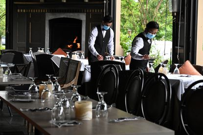 Ananda, a restaurant in Fulton, Maryland, recently opened for outdoor dining.