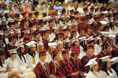 The Class of 2012 waits to receives their diplomas.