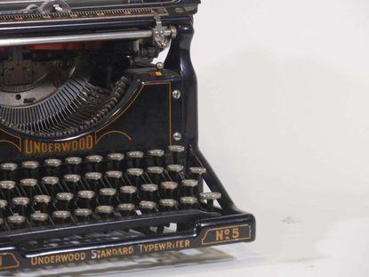 Underwood Typewriter No. 5, similar to the one columnist Lois Szymanski used when she began writing.
