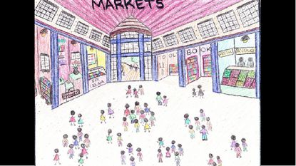 Art by middle-schooler Kaylin Burrell was chosen as part of an annual calendar contest by Maryland Council on Economic Education's to bring awareness of economic concepts to students.