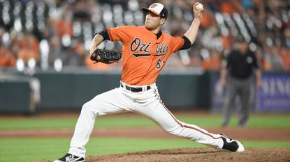 The Orioles' Tanner Scott pitches in the ninth inning during a game against the Rays at Camden Yards on Sept. 23, 2017. Scott made five appearances — including three starts — and ended with a 12.54 ERA in the Arizona Fall League.