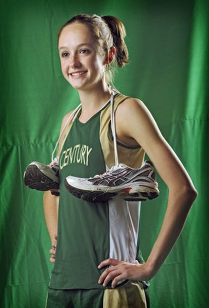 Century's Maura Linde is the All-Metro Runner of the Year for girls cross country.