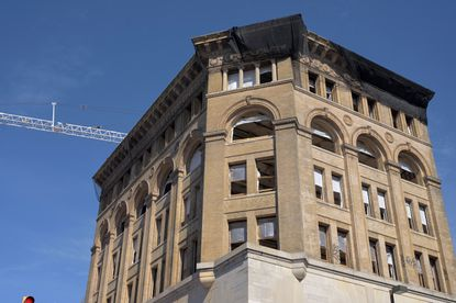 The historic Drovers' and Mechanics' National Bank on Eutaw Street is being remodeled into a Springhill Suites hotel.