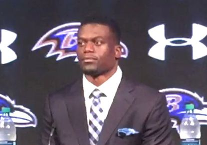 March 10, 2016 -- The Ravens held a press conference introducing Ben Watson, tight end.