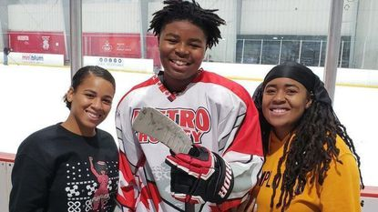 Capitals surprise Anne Arundel hockey team that defended black teammate after racist taunts
