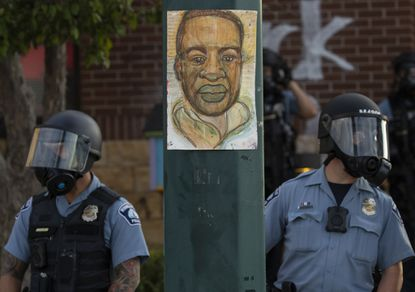 Protests continued Wednesday at the Minneapolis 3rd Police Precinct following the death of George Floyd in a confrontation with Minneapolis police on Monday evening.