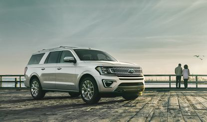 The 2019 Ford Expedition platinum ingot silver.