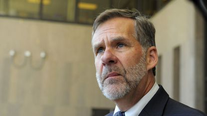 Emmet Davitt, the Maryland state prosecutor, is shown in this photo from April 20, 2018, at Baltimore County Circuit Court in Towson.