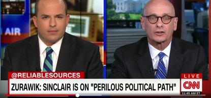 "Brian Stelter, host of CNN's ""Reliable Sources"" and I discuss the politics of Sinclair Brodcast Group giving former Trump aide Boris Epshteyn added airtime for his commentaries."